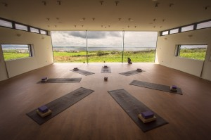 Yoga Studio, wall of glass