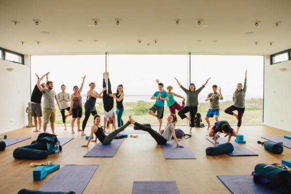 Cliffs of Moher retreat yoga studio group fun