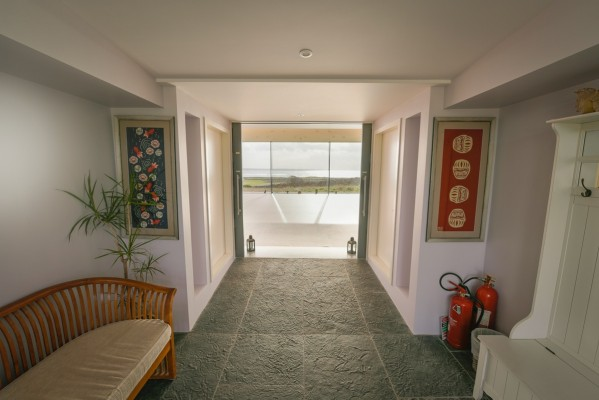 Cliffs of Moher retreat yoga studio entrane way